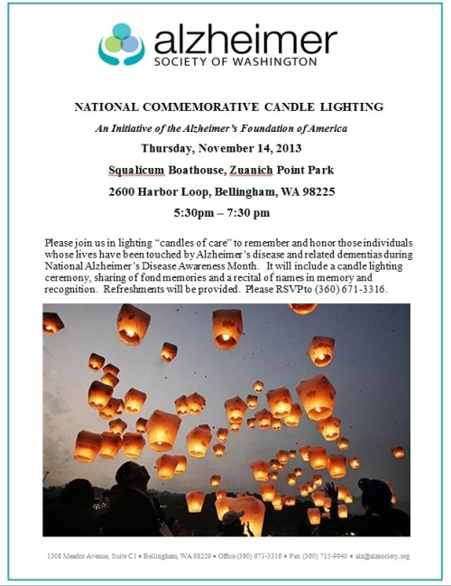 Alzheimer Society of Washington National Candle Lighting